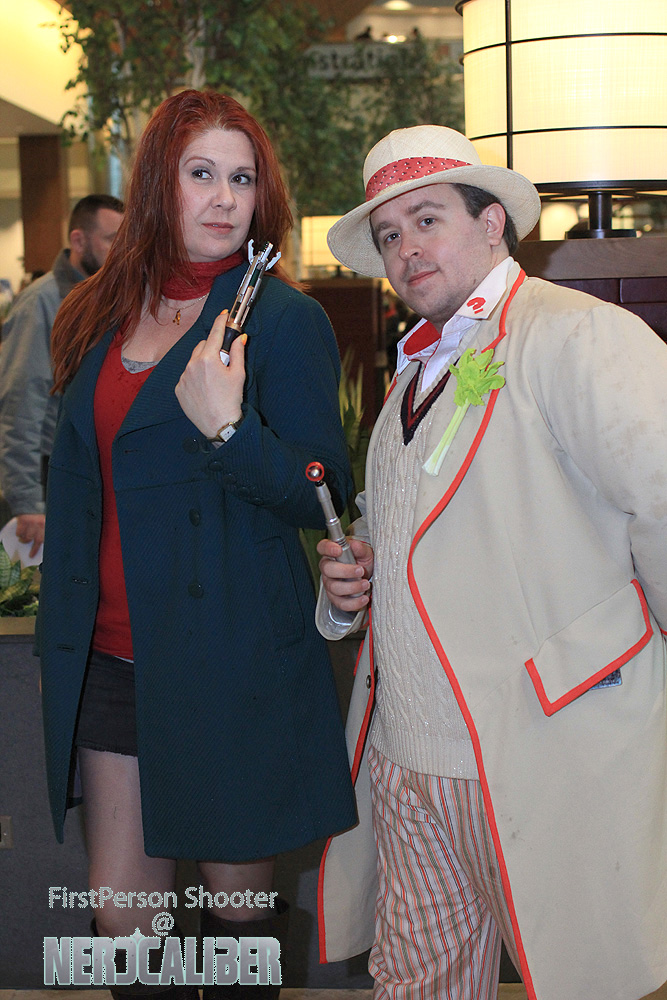The fifth Doctor and companion