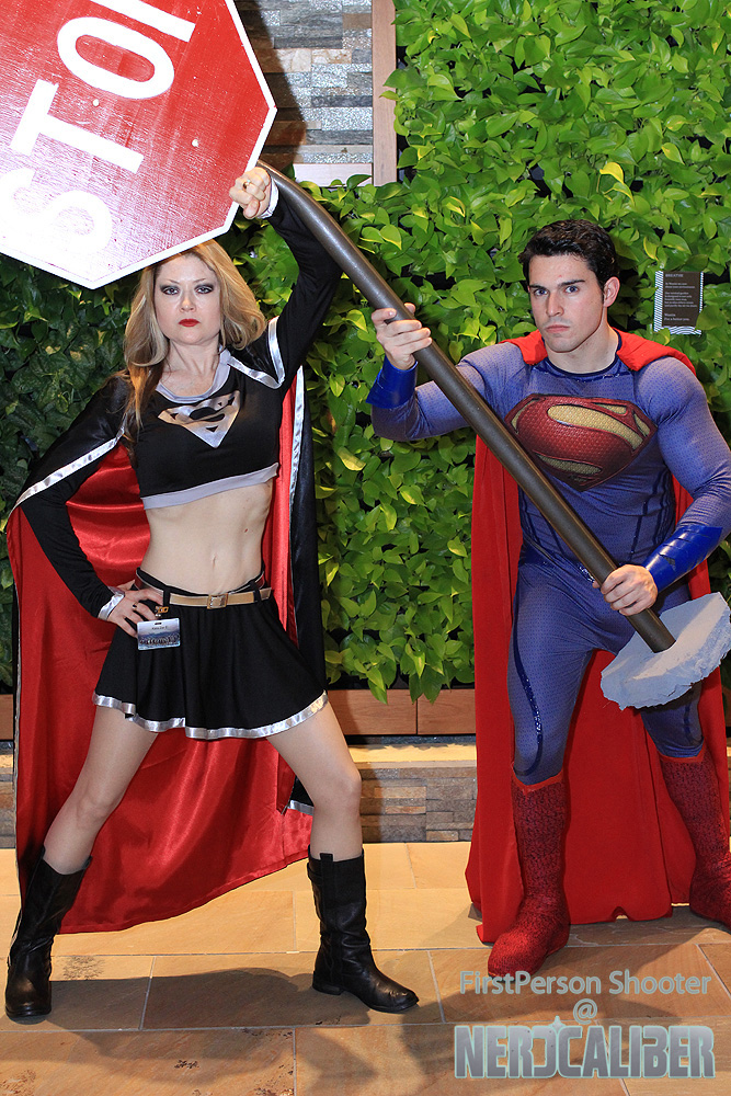 Evil Super-Girl versus the Man of Steel