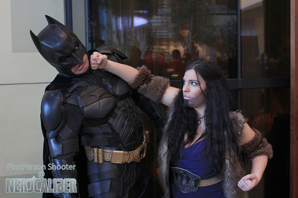 Thorin Oakenshield punches out the Dark Knight