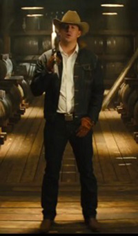 Channing Tatum as the American stereotype.