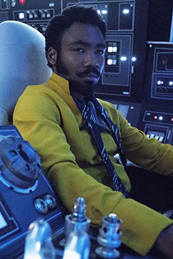 Donald Glover delivers the good as young Lando.